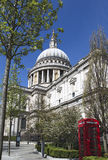 St Pauls Cathedral in London. Springtime St Pauls Cathedral in London Royalty Free Stock Photos
