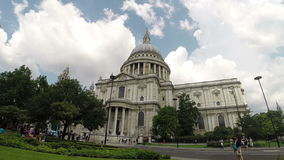 St Pauls Cathedral, London - timelapse. Timelapse sequence of St Pauls Cathedral London on a summer day stock video