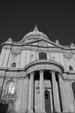 St Pauls Cathedral in London, UK. In black and white Stock Photo
