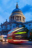 St Pauls Cathedral in London, UK, at night Royalty Free Stock Image