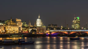 St Pauls Cathedral. Looking across the Thames towards St Pauls Cathedral Stock Photo