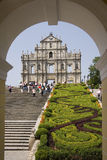 St Pauls Cathedral - Macau - South East Asia. The facade of St. Pauls Cathedral in Macau in South East Asia Royalty Free Stock Images