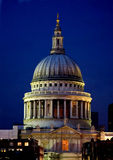 St pauls cathedral at night Royalty Free Stock Images