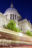 St. Pauls Cathedral at Night Royalty Free Stock Photo