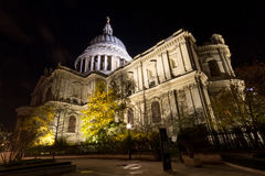 St Pauls Cathedral at night Stock Photography
