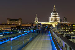 St Pauls Cathedral. Overlooking the River Thames Stock Photo