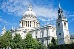 St Pauls Cathedral. St Paul's cathedral, a famous landmark of London Stock Photo
