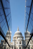 St Pauls Cathedral reflected Stock Image