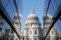 St Pauls Cathedral reflected royalty free stock photos