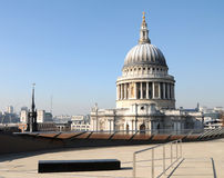St Pauls Cathedral from rooftop Stock Images