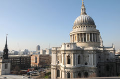 St Pauls Cathedral from rooftop Stock Photos