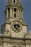 St pauls Cathedral's tower. 4 o'clock on St pauls Cathedral's clock tower Royalty Free Stock Images