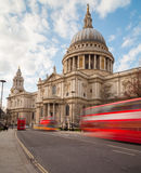 St Pauls Cathedral and Traffic Stock Image