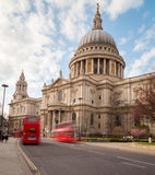 St Pauls Cathedral and Traffic Stock Images