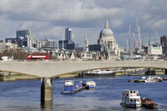 St Pauls Cathedral and Waterloo stock photo
