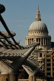 St pauls catherdal and millenium bridge Stock Images