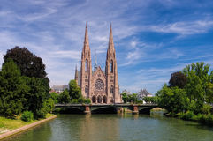 St. Pauls Church in Strasbourg, France Royalty Free Stock Photo