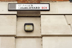 St. Pauls Churchyard in London Royalty Free Stock Images