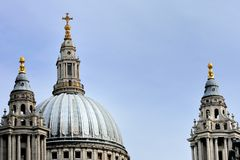 St Pauls Dome and towers Stock Image