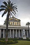 St Pauls fuori della parete - Roma fotografia stock