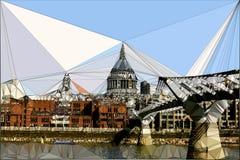 St Pauls Katedralna Trójgraniasta ilustracja obraz royalty free