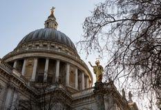 St Pauls Katedralny Kościelny Londyński Anglia Obrazy Royalty Free