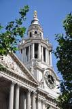 St. Pauls Kathedraal in Londen Engeland Royalty-vrije Stock Foto's