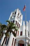 St. Pauls kerk en vlag Royalty-vrije Stock Afbeelding