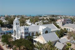 St. Pauls Kerk, Key West Stock Foto's