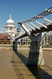 St pauls and the millenium bridge Stock Image