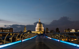 St Pauls, Millenium Bridge Stock Photo