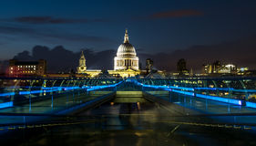 St Pauls, Millenium Bridge Stock Photography
