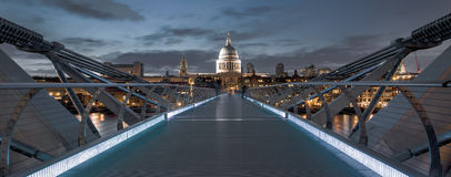 St Pauls from Millennium bridge Royalty Free Stock Photo