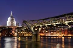St Pauls na noite Imagens de Stock Royalty Free