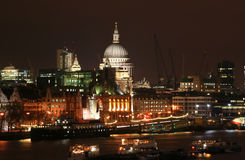 St. Pauls at Night Stock Photography