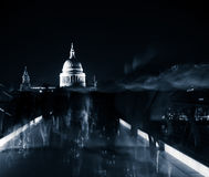 St Pauls at night Stock Photography