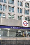 St Pauls Station in London Royalty Free Stock Photo