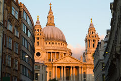 St Pauls at Sunset Royalty Free Stock Image