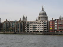 St Pauls from the Thames stock photography
