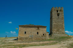 St.Pauls Tower  and chyrch. St.Pauls Tower in Nea Fokaia Stock Image