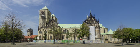 St. Paulus cathedral in Munster, Germany. Munster Cathedral (St.-Paulus-Dom) is a cathedral in the German city of Munster. It is the city's main church and one Royalty Free Stock Photo