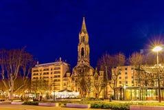 St Perpetue da igreja e St Felicite de Nimes imagem de stock