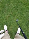 1st person golf Royalty Free Stock Images