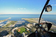 St. Pete Aerial View from a Helicopter Royalty Free Stock Photography