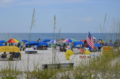 St Pete Beach i St Petersburg, Florida Royaltyfria Bilder