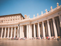 St. Peter's Square Colonnades in Vatican City Royalty Free Stock Photography