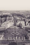 ST Peter στο Βατικανό Παλιή φωτογραφία στοκ φωτογραφίες