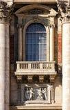 St Peter balkon i okno (watykan Rzym, Włochy, -) fotografia royalty free