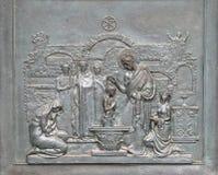 St Peter Baptizing dans les catacombes Photos stock