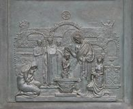 St Peter Baptizing nas catacumbas Foto de Stock Royalty Free